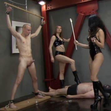 BDSM HD pornó - két úrnő munkában